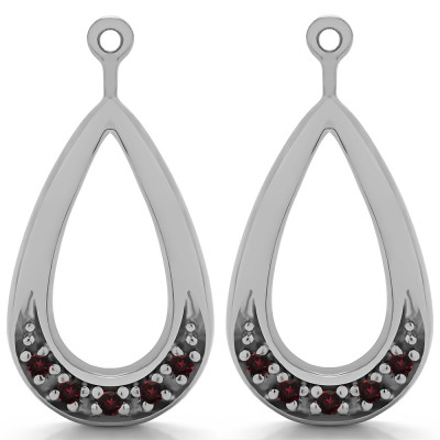 0.1 Carat Ruby Round Pave Chandelier Earring Jacket