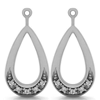 0.1 Carat Round Pave Chandelier Earring Jacket