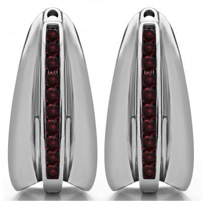 0.315 Carat Ruby Large Round Channel Set Chandelier Earring Jacket