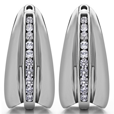 0.315 Carat Large Round Channel Set Chandelier Earring Jacket