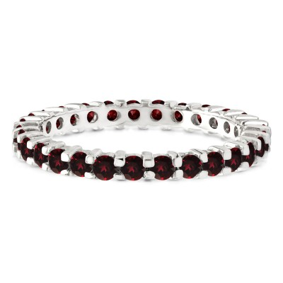 Ruby Stackable 2.2mm Double Shared Prong Eternity Ring