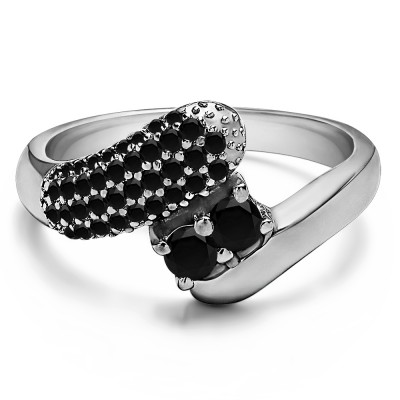 0.51 Carat Together 4Ever:  Retro TwoStone Ring by TwoBirch