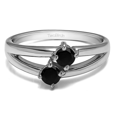 0.36 Carat Together 4Ever:  Open TwoStone Ring by TwoBirch