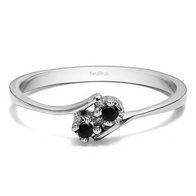 0.05 Carat Together 4Ever:  Dainty TwoStone Ring by TwoBirch