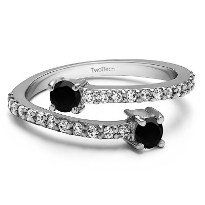 0.63 Carat Together 4Ever:  Beautiful TwoStone Ring by TwoBirch