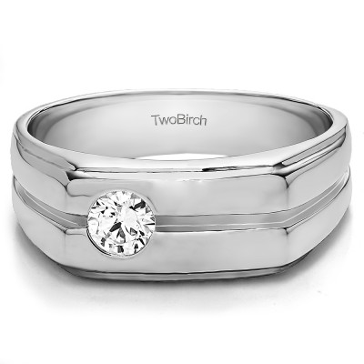 0.33 Ct. Solitaire Men's Wedding Ring