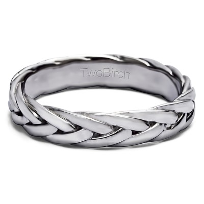 Braided Men's Wedding Ring