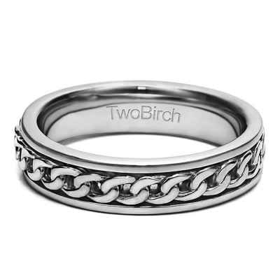 Braided Unique Men's Fashion Wedding Band
