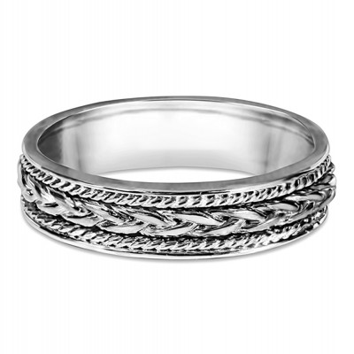 Embellished Celtic Infinity Braided Wedding Band