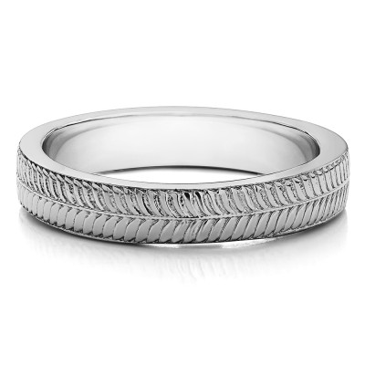 Unique Engraved Men's Wedding Band
