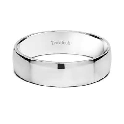 5.5 Millimeter Wide High Polished Plain Men's Wedding Ring