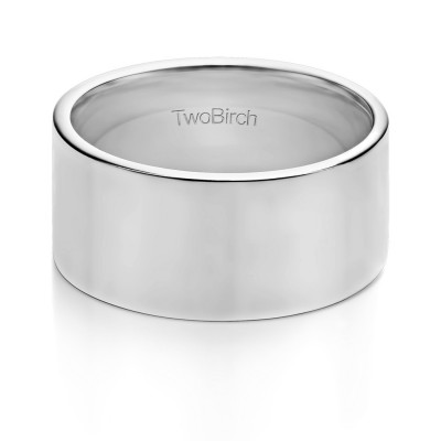 10 Millimeter Wide Plain Men's Wedding Ring