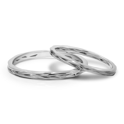 His and Hers Braided Wedding Ring Set