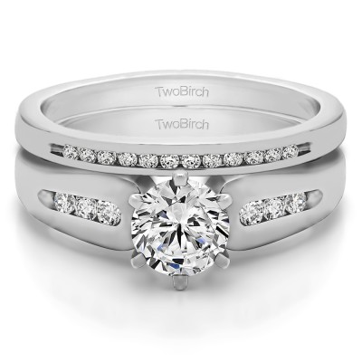 Graduated Engagement Ring  Bridal Set (2 Rings) (0.75 Ct. Twt.)