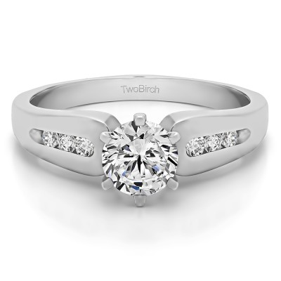 0.66 Ct. Round Graduated Channel Engagement Ring
