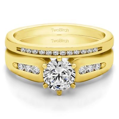 Graduated Engagement Ring  Bridal Set (2 Rings) (0.75 Ct. Twt.)
