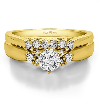 Cluster Engagement Ring  Bridal Set (2 Rings) (0.63 Ct. Twt.)