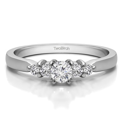 0.36 Ct. Round Shared Prong Set Engagement Ring