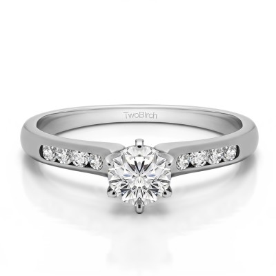0.41 Ct. Round Channel Set Engagement Ring