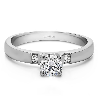 0.25 Ct. Round Three Stone Engagement Ring