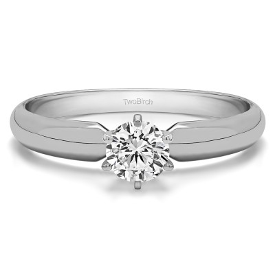 0.33 Carat Traditional Style Pinched Center Solitaire