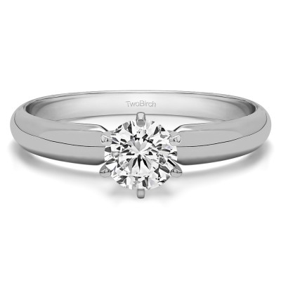0.75 Carat Traditional Style Pinched Center Solitaire