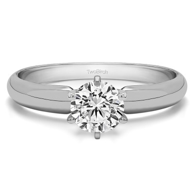 1 Carat Traditional Style Pinched Center Solitaire