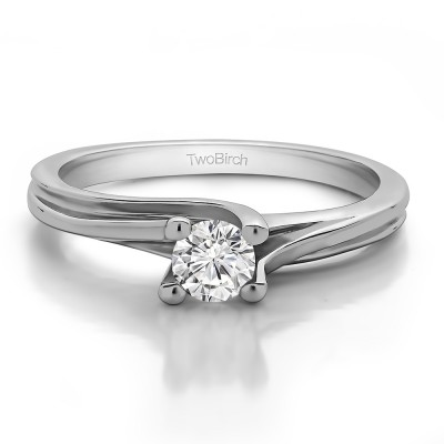 0.33 Carat Bypass Solitaire Engagement Ring