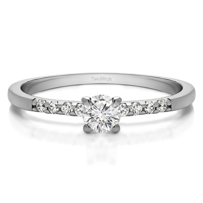 0.32 Ct. Round Shared Prong Set Engagement Ring