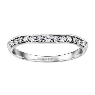 0.13 Carat Knife Edged Matching Wedding Ring