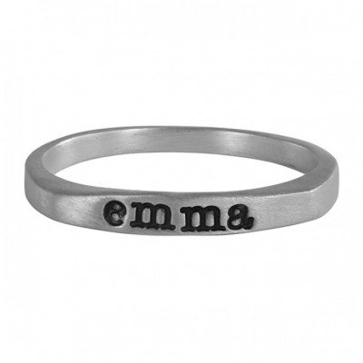 Stamped Name Ring