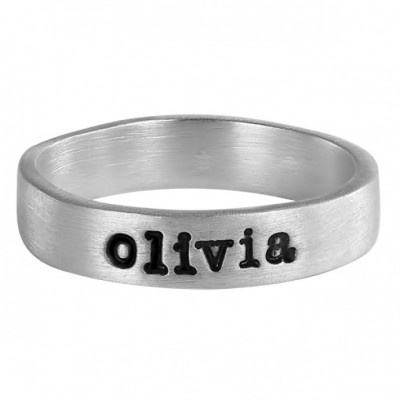 Personalized Wide Band Name Ring