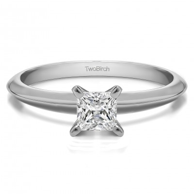 0.2 Carat Traditional Style Princess Solitaire