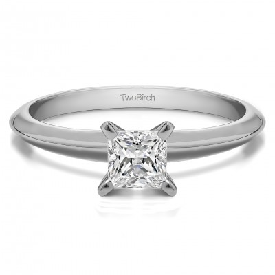 0.33 Carat Traditional Style Princess Solitaire