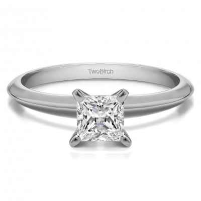 0.5 Carat Traditional Style Princess Solitaire