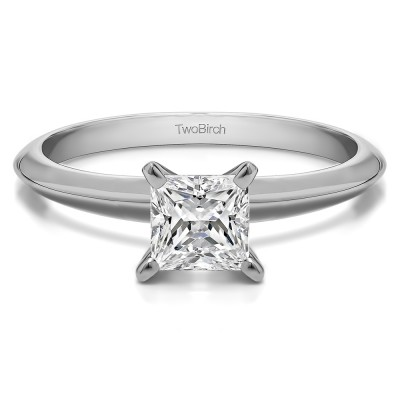 0.75 Carat Traditional Style Princess Solitaire