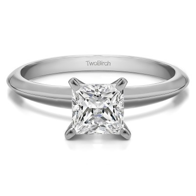 1 Carat Traditional Style Princess Solitaire