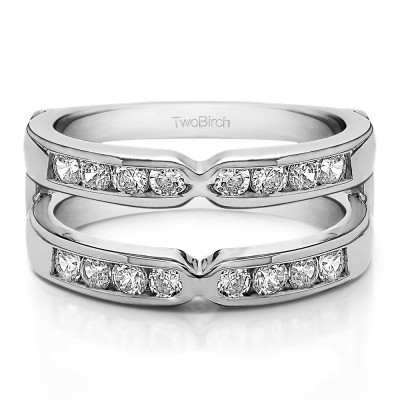 0.72 Ct. Round X Design Channel Set Ring Guard