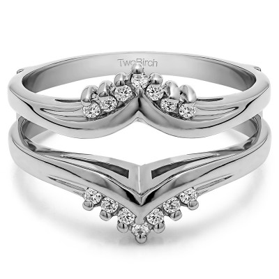 .50 Ct. Round Prong Set Chevron Ring Guard