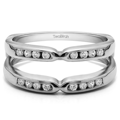 0.24 Ct. Round Channel Set Pinched Center ring guard