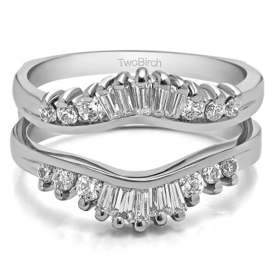 0.65 Ct. Baguette and Round Contour Ring Jacket Enhancer