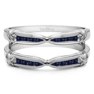 0.32 Ct. Sapphire Channel Set Round Ring Guard Enhancer