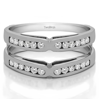 0.48 Ct. Round Channel Set X Ring Guard Enhancer