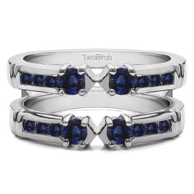 0.76 Ct. Sapphire Three Stone Ring Guard Enhancer