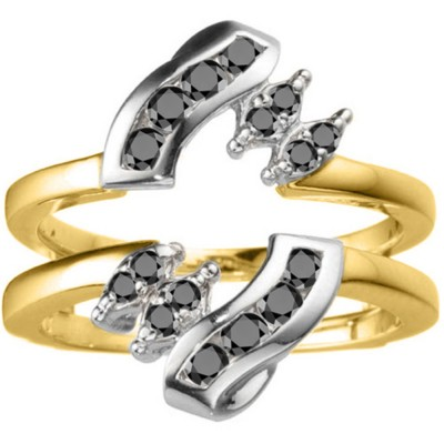 0.36 Ct. Round Twist Ring Guard in Two Tone Gold