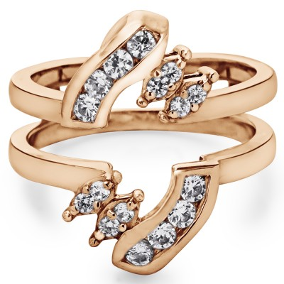 0.36 Ct. Round Twist Ring Guard in Rose Gold