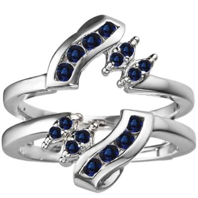 0.36 Ct. Sapphire Round Twist Ring Guard