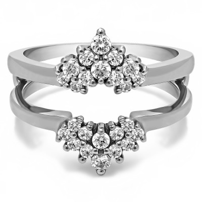 0.37 Ct. Double Row Round Prong Set Ring Guard