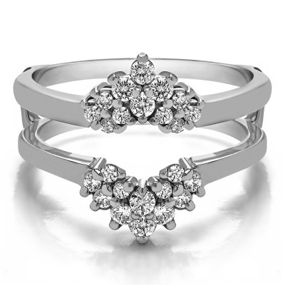 0.53 Ct. Double Row Round Prong Set Ring Guard
