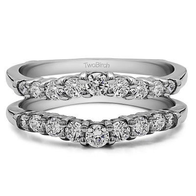 0.71 Ct. Double Shared Prong Contoured Ring Guard